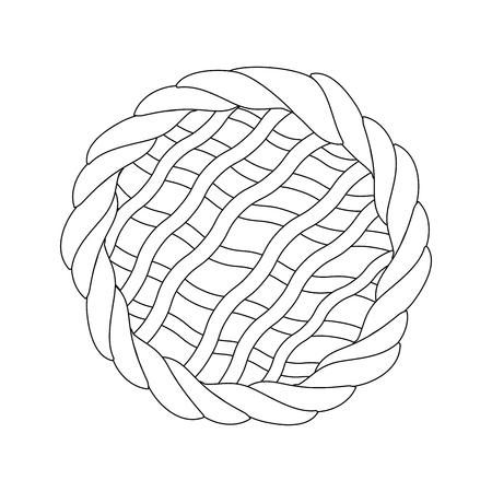 白い背景のベクトル図を円グラフ アイコン