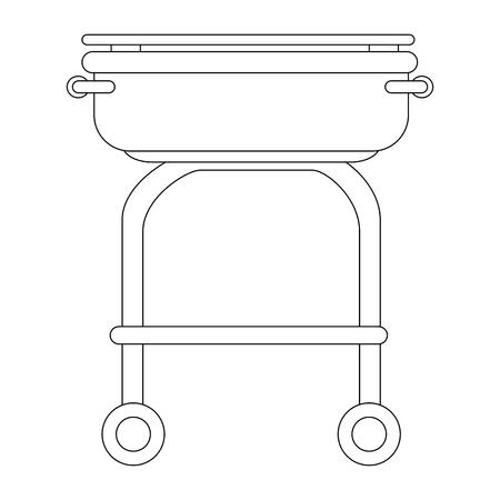 白い背景のベクトル図をトレイ アイコンをビュッフェします。  イラスト・ベクター素材