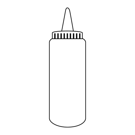 sauce bottle icon over white background vector illustration