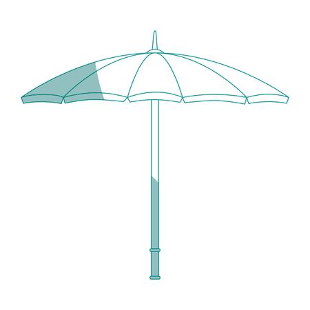 白い背景のベクトル図に日傘アイコン  イラスト・ベクター素材