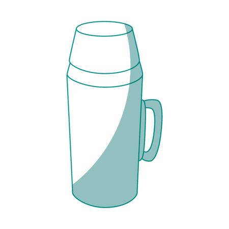 흰색 배경 벡터 일러스트 레이 션을 통해 커피 용어 아이콘