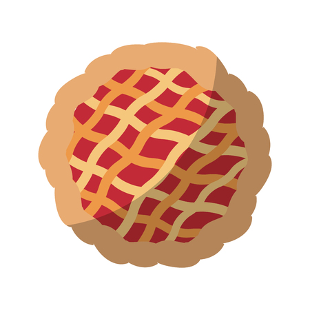 pie icon over white background vector illustration