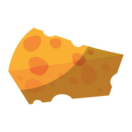 piece of cheese icon over white background vector illustration Illustration