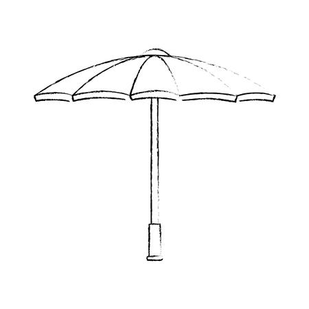 parasol pictogram over witte achtergrond vectorillustratie