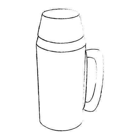 koffie termijn pictogram over witte achtergrond vectorillustratie
