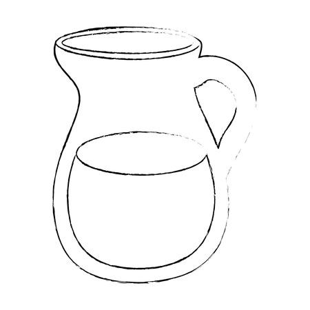 water pitcher icon over white background vector illustration Ilustração
