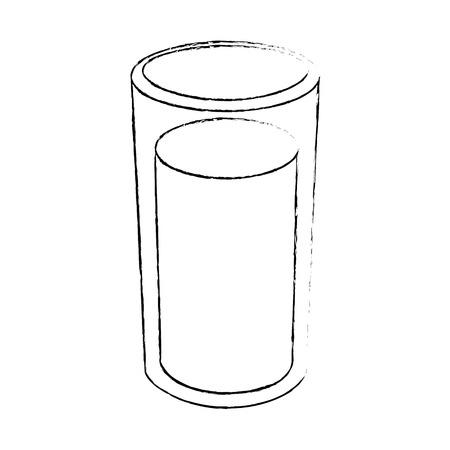 白い背景のベクトル図に水のガラス アイコン  イラスト・ベクター素材