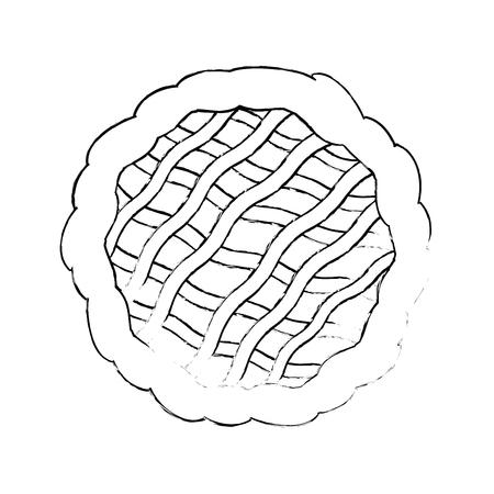 흰색 배경 벡터 일러스트 레이 션 위에 파이 아이콘