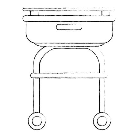 Icono de bandeja de buffet sobre ilustración de vector de fondo blanco Foto de archivo - 81165766