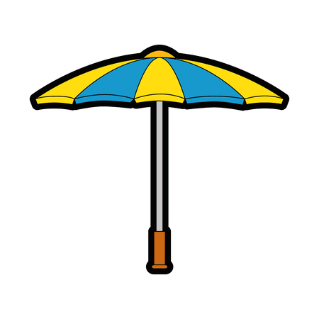 A parasol icon over white background vector illustration. Illustration