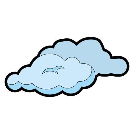 흰색 배경 벡터 일러스트 레이 션 위에 구름 아이콘입니다.