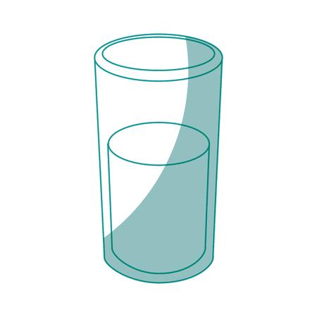 흰색 배경 벡터 일러스트 레이 션 위에 물 아이콘의 유리