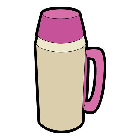 흰색 배경 벡터 일러스트 레이 션을 통해 커피 용어 아이콘.