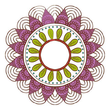 Beautiful mandala desing flower design indian vector icon