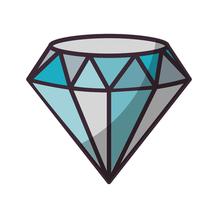 Beautiful diamond isolated icon vector illustration graphic design