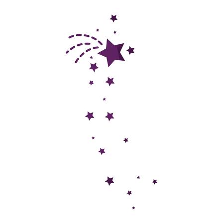 shadowed: Star decorative symbol icon vector illustration graphic design