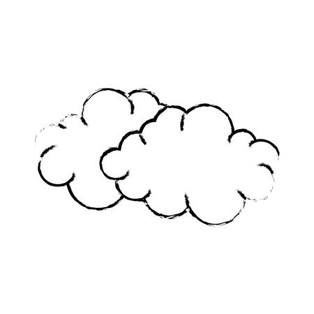 かわいい雲漫画アイコン ベクトル イラスト グラフィック デザイン