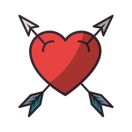Heart and love cartoon icon vector illustration graphic design