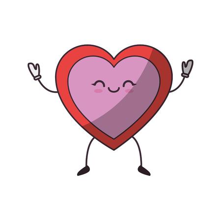 Corazón y el amor icono de dibujos animados ilustración vectorial diseño gráfico Ilustración de vector