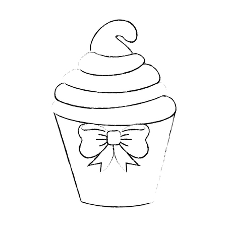 funy: Delicious cupcake cartoon icon vector illustration graphic design