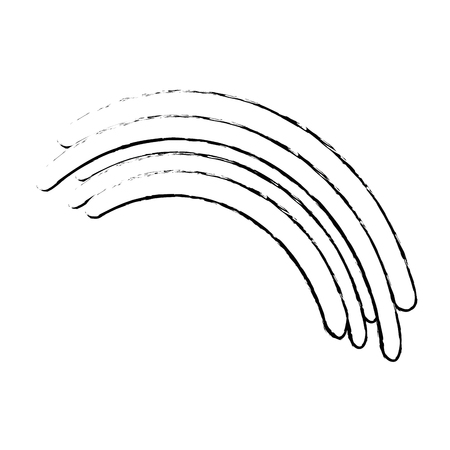 Beautiful rainbow cartoon icon vector illustration graphic design Illusztráció