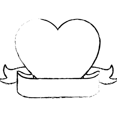 Corazón y el amor icono de dibujos animados ilustración vectorial diseño gráfico