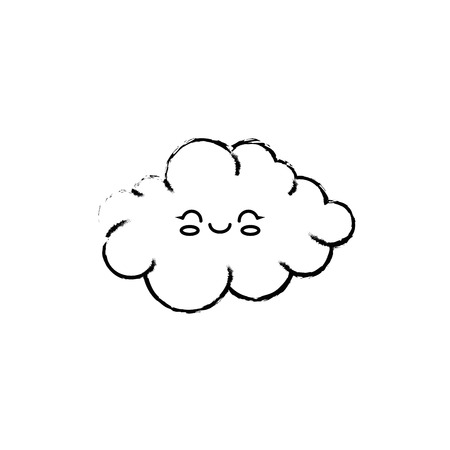 Cute cloud cartoon icon vector illustration graphic design 版權商用圖片 - 81165910
