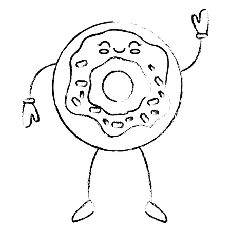 glazed: Delicious donut cartoon icon vector illustration graphic design