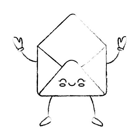 かわいい手紙漫画アイコン ベクトル イラスト グラフィック デザイン 写真素材 - 81165922