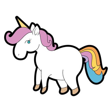 Cute unicorn cartoon icon vector illustration graphic design