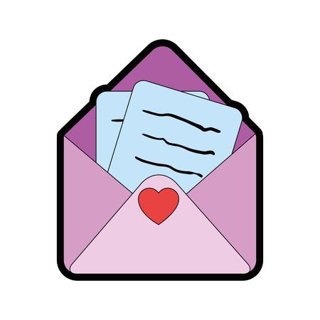 귀여운 편지 만화 아이콘 벡터 일러스트 그래픽 디자인