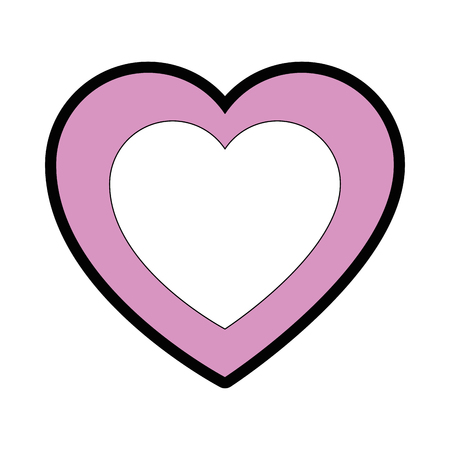Heart and love cartoon icon vector illustration graphic design Reklamní fotografie - 81165955