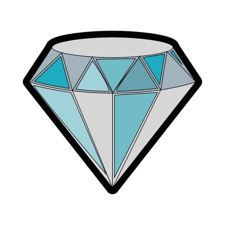 Het mooie diamant geïsoleerde grafische ontwerp van de pictogram vectorillustratie