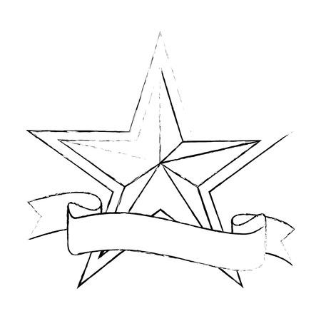 Star medal shape icon vector illustration graphic design