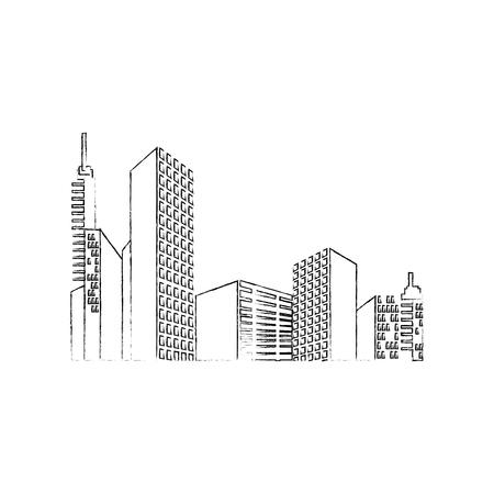 Urban cityscape view icon vector illustration graphic design Illustration