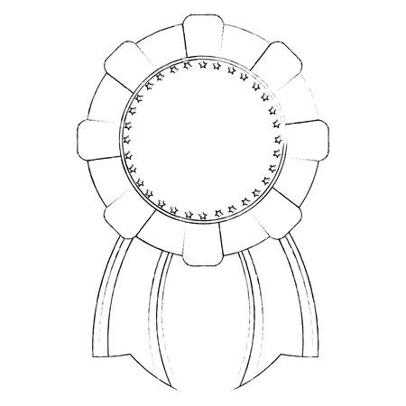 quality guarantee: Award ribbon isolated icon vector illustration graphic design Illustration