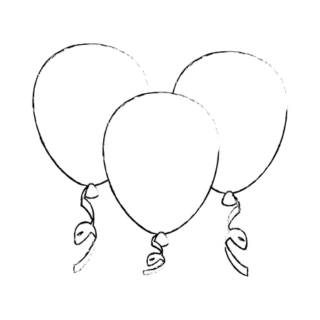 Decorative balloon isolated icon vector illustration graphic design