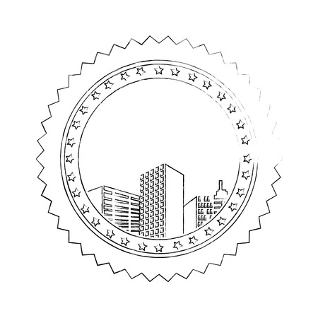 Urban cityscape view icon vector illustration graphic design Illusztráció