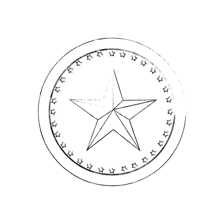 Star medal shape icon vector illustration graphic design