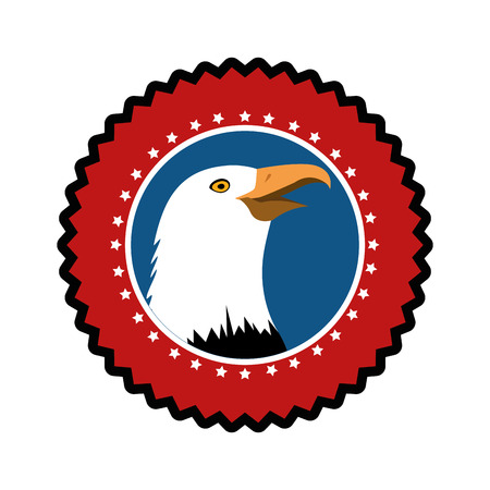 American hawk symbol icon vector illustration graphic design