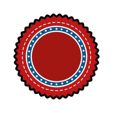 warranty: Award ribbon isolated icon vector illustration graphic design Illustration