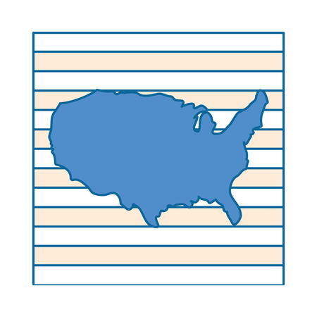 United states map silhouette icon vector illustration graphic design