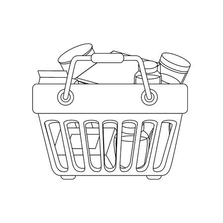 Einkaufskorbsymbolikonenvektor-Illustrationsgrafikdesign Standard-Bild - 81167238