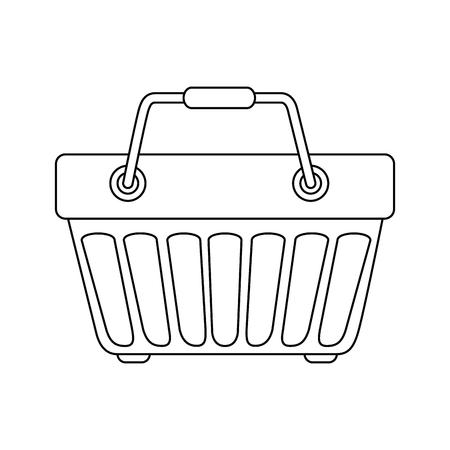 Einkaufskorbsymbolikonenvektor-Illustrationsgrafikdesign Standard-Bild - 81167240