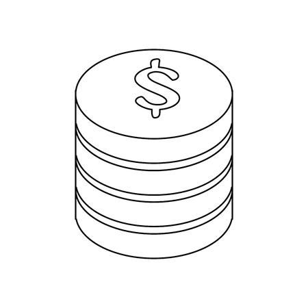 돈 동전 아이콘 벡터 일러스트 그래픽 디자인 쌓여 스톡 콘텐츠 - 81167237