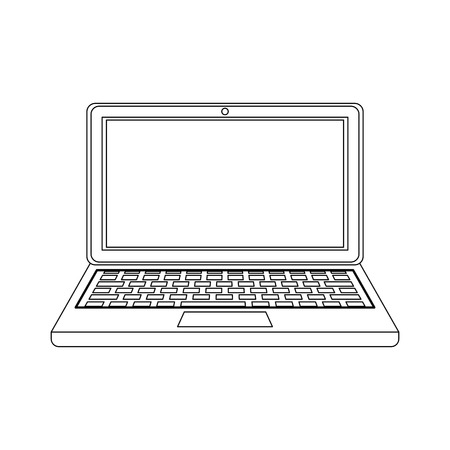 Laptop pc computer icon vector illustration graphic design Illustration