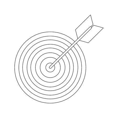 Dartbord doel symbool pictogram vector illustratie grafisch ontwerp