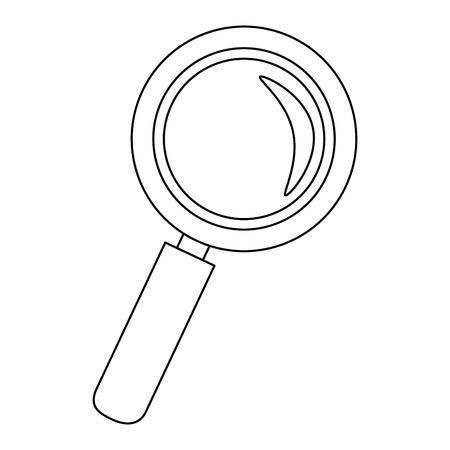 拡大鏡ルーペ アイコン ベクトル イラスト グラフィック デザイン