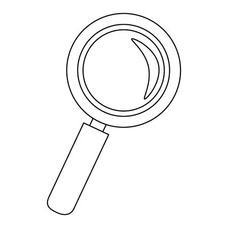 Magnifying glass lupe icon vector illustration graphic design Ilustração