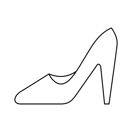 Het hoge grafische ontwerp van de het pictogram vectorillustratie van hielschoenen